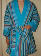 'Take It Easy' Child's Robe with light blue lining