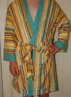 'On Safari' Child's Robe with yellow lining